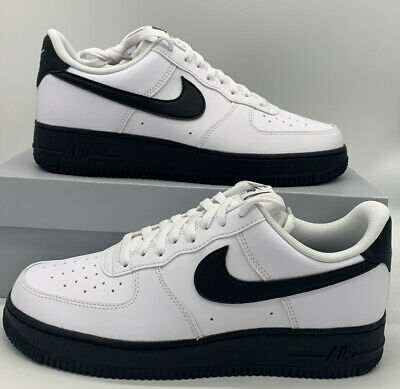 Nike Air Force 1 Low '07 Mens Casual Shoes CK7663-101 White Black   eBay