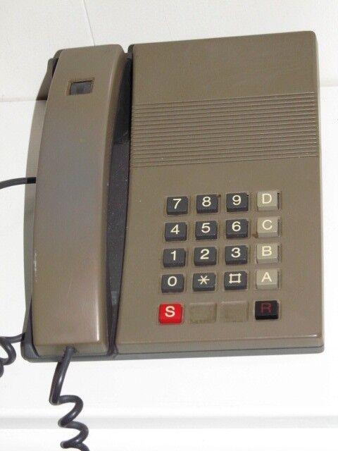 Fed gammel Retro bord telefon VIRKER bordtelefon