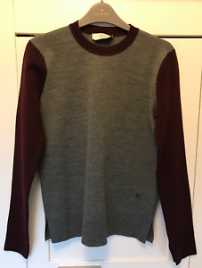 BN Mulberry Two Tone Merino Wool Sweater - Size XS