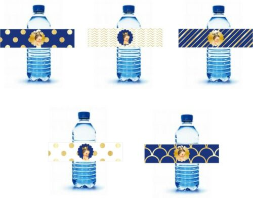 Royal Prince Water Bottle labels 25 labels 5 designs