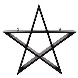 Pentagram-Wall-Art-Display-Shelf-38cm-High-Crystals-Altar-Piece-Wiccan-Pagan