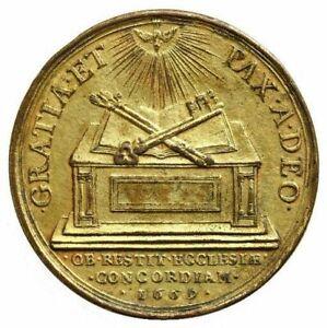 LOUIS-XIV-La-paix-clementine-ou-la-paix-de-l-Eglise-par-Warin-1669