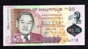 Actuelle Billet: Bank Of Mauritius 25 Roupies De Circulation 2013-afficher Le Titre D'origine
