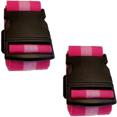 "/""Pink/"" 3x Koffergurt Kofferband Gepäckband Koffer-Gurt Koffer-Band im Design"