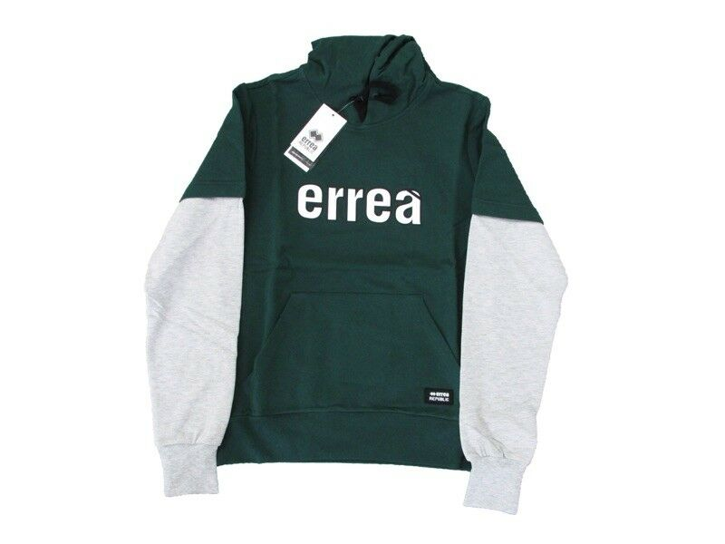 Errea 'Trend Fw 18 19 Man Sweatshirt Hooded Green White R18g1i0z00160