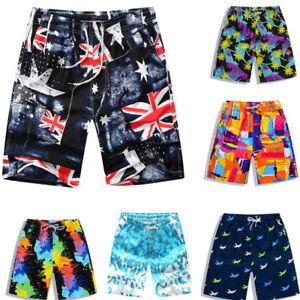 ec161a343a Men's Summer Beach Swimming Swim Trunks Surf Board Shorts Swimwear ...