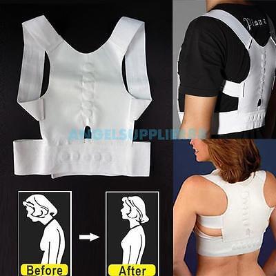 A#S0 Magnetic Therapy Posture Back Shoulder Corrector Support Brace Belt