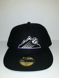 NEW-Era-59fifty-COLORADO-ROCKIES-Exclusive-Hat-BLK-PUR-SIZE-7-MLB-B1