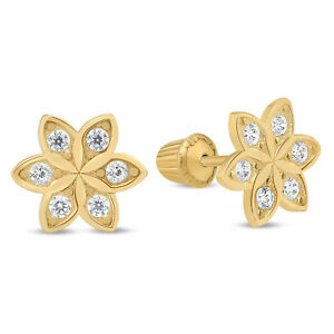 c1132edd5 Stud Earrings Sunflower Real Solid 14K Yellow Gold Nice Jewelry Gigt ...