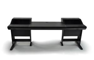 Incroyable Details About Zaor Onda   Angled Studio Workstation Desk With 2x6 RU    Black Finish