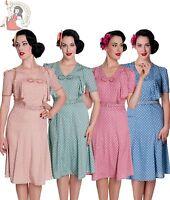 HELL BUNNY clearance 40s JENNIFER WW2 wartime POLKA DOT tea DRESS