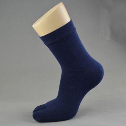 Men Women Solid Cozy New Ankle Boat Socks Sport Five  Sock Toes Finger Causal