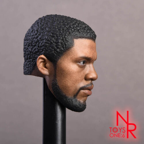 """NRTOYS 1//6 Black Panther 2.0 Head Sculpt Carved Male Figure for 12/"""" Action Doll"""