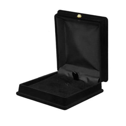 Velvet Necklace Jewelry Box Gift Case Display Storage Organizer Holder Black