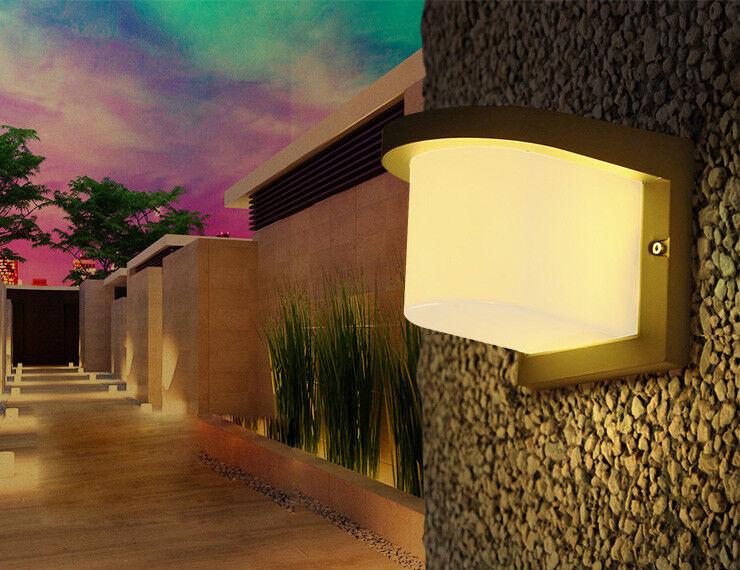Montaje en parojo exterior 10W LED Lámpara Lámpara de Aluminio Die-Casting PMMA Jardín
