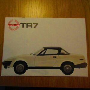 Triumph Tr7 Drophead Convertible 1998cc 20 Uk Market Sales Brochure