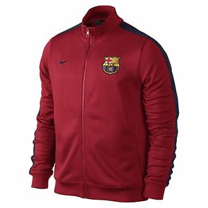 Image is loading NIKE-FC-BARCELONA-AUTHENTIC-N98-TRACK-JACKET-Red- 56461d5ee