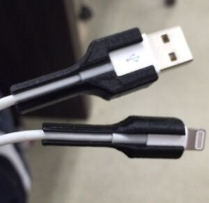 3d Printed Apple Cable Protector Usb And Lightning Cable