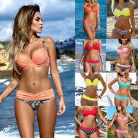 Sexy Damen Bikini Badeanzug Bademode Schwimmanzug Sommer Push-up Sommer Strand