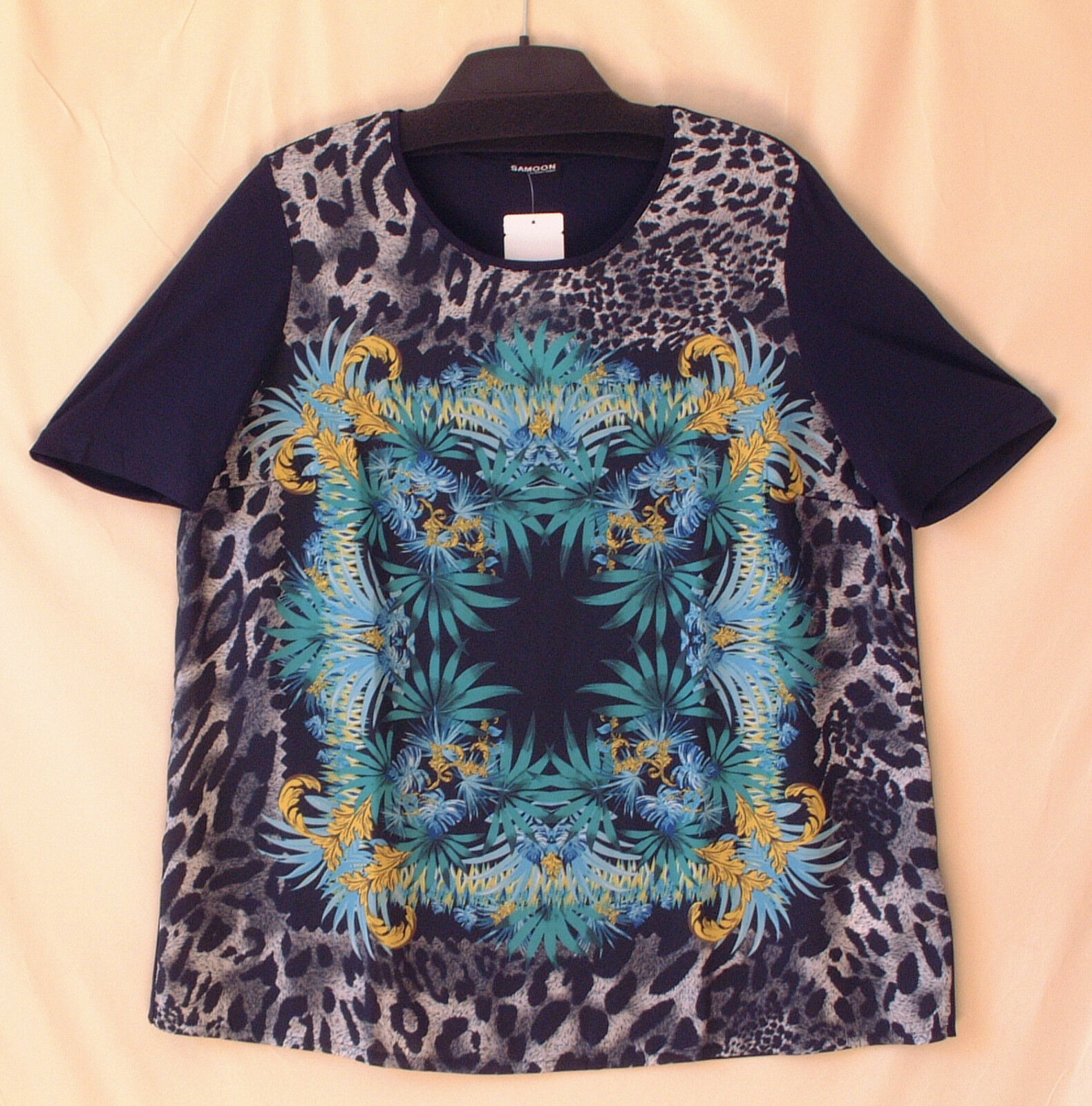 Samoon Shirt Gerry Weber verlängertes Sommershirt Polyester-Viskose Damen Gr.52