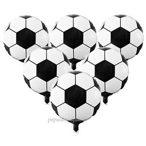 Lot-of-5-100pc-45cm-Football-Soccer-Helium-Foil-Balloon-Sport-Party-Decoration
