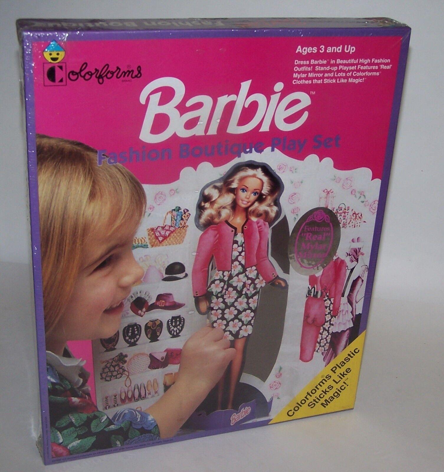Barbie High Fashion Fashion Fashion Boutique Outfits Play Set Real Mylar Mirror NIB Sealed b96a84