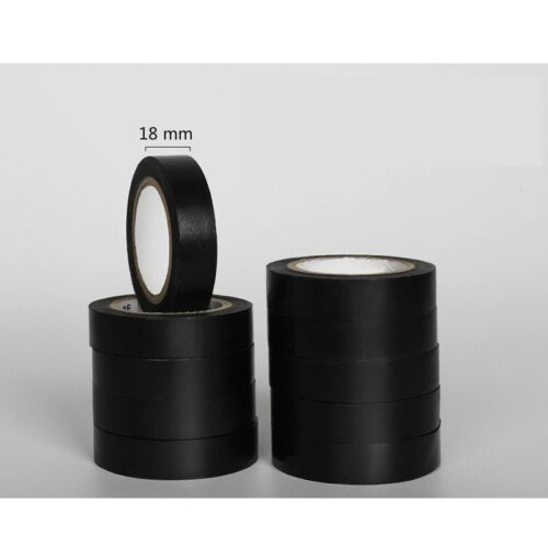Details about  /10 Packs of PVC Electrical Insulation Tape Flame Retardant Waterproof 18 mm Red