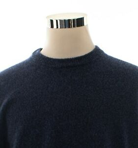 Banana-Republic-Italian-Yarn-Merino-Wool-Blue-Crewneck-Sweater-Size-XL