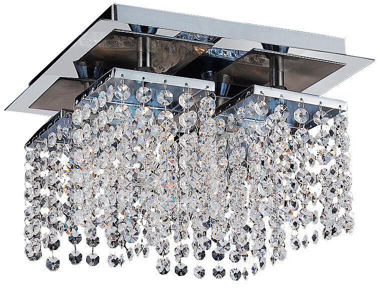 Tp24 6554 Metro of 4 x 3W 3W 3W F40 plaque led cristal plafonnier chrome | Matériaux Soigneusement Sélectionnés  0d4aa3