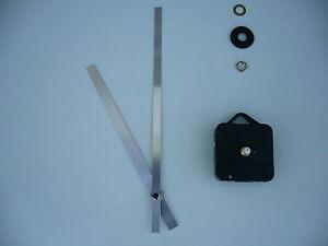 HIGH TORQUE CLOCK MOVEMENT SHORT SPINDLE 200MM SILVER METAL HANDS