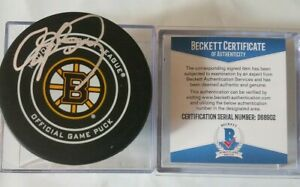 BECKETT-COA-ANDY-BRICKLEY-SIGNED-OFFICIAL-GAME-PUCK-BOSTON-BRUINS-BETTMAN-NHL