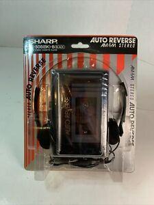 Vintage Sharp JC-508 (BK)-B Black AM/FM Stereo Cassette Player NEW In Package