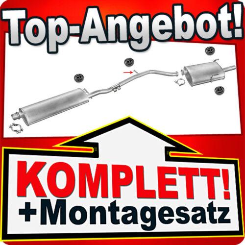 Auspuff PEUGEOT 406 2.0 136PS Kombi 1999-04.2000 Auspuffanlage M28