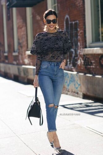 Zara Lace Top with Frills Size S,M