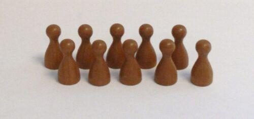 100 Stück Halmakegel a.Holz  braun 25 mm Pöppel Spielfiguren