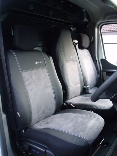 VAUXHALL MOVANO Mk3 2010 ONWARDS ECO LEATHER /& ALICANTE TAILORED SEAT COVERS