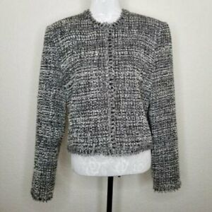 Saks Fifth Avenue Womens Black Label Cropped Jacket