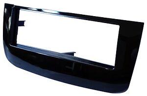Adaptateur-Autoradio-Facade-Cadre-Reducteur-noir-brillant-pour-Fiat-Punto-EVO