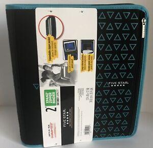 "Back to School! Five Star 2/"" Xpanz Zipper Binder 380 Sheet Asstd Colors U-Pick"