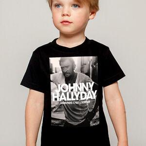 2019 New Style T-shirt Enfant Johnny Hallyday Mon Pays C'est L'amour T-shirts, Débardeurs, Chemises