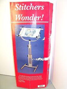 "FA Edmunds /""Stitchers Wonder/"" Cross Stitch Scroll Frame /& Floor Stand"