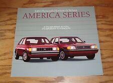 Original 1989 Plymouth Horizon & Reliant Sales Brochure 89