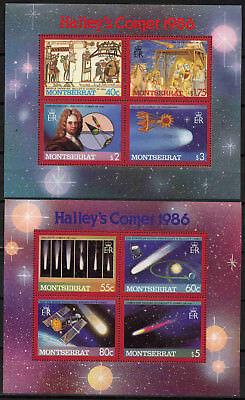 Vorsichtig Montserrat Block 35+36 Halley ** Umtaus Klar Und GroßArtig In Der Art Privatverkauf 10521 Keine Rücknahme