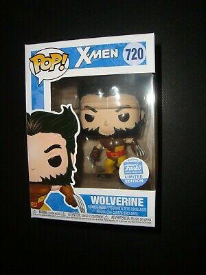 Marvel Funko Pop X-Men Unmasked Wolverine Brown Suit #720 Vinyl Figure Shop Exclusive