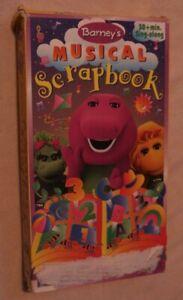 Barney-VHS-Tape-Musical-Scrapbook-Children-s-Video