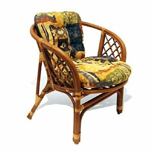 bahama handmade design rattan wicker dining living lounge chair w thick cushion ebay. Black Bedroom Furniture Sets. Home Design Ideas