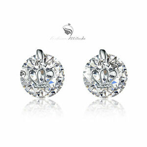 18k-white-gold-gp-made-with-SWAROVSKI-crystal-stud-earrings-crown-solitaire-4ct