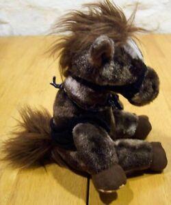 Aurora-SOFT-BROWN-HORSE-8-034-Plush-Stuffed-Animal