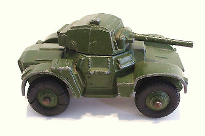 Dinky Armoured Car No 670 1950s Armored Army Military Tank Metal Diecast Vintage