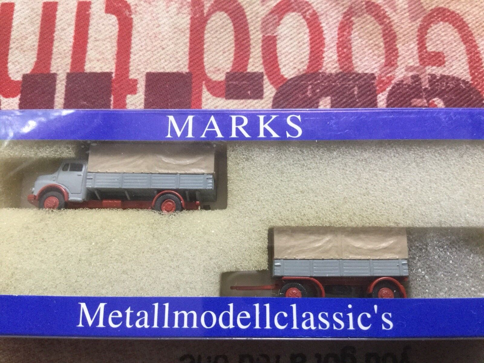 Marks N 1385 MB L911 1963 Hängerzug Pritsche TOP in OVP    Sale Online